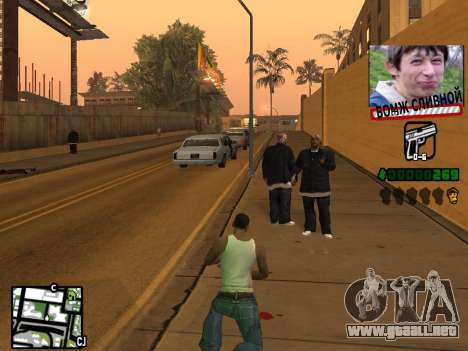 C-HUD for Ghetto para GTA San Andreas tercera pantalla