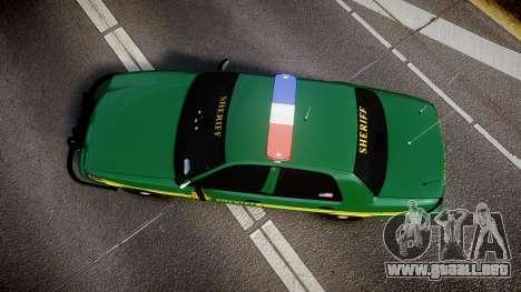 Ford Crown Victoria Sheriff [ELS] green para GTA 4 visión correcta