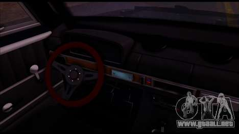 VAZ 2101 A.C. para GTA San Andreas vista hacia atrás