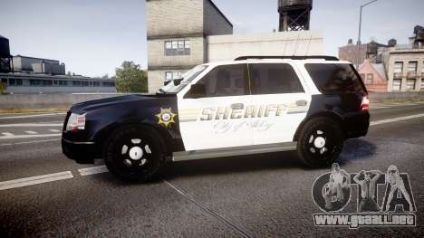 Ford Expedition 2010 Sheriff [ELS] para GTA 4 left