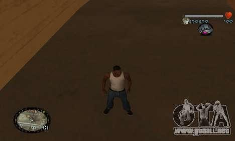 C-HUD UNIVERSAL para GTA San Andreas sucesivamente de pantalla