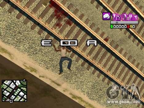 C-HUD Ballas by Inovator para GTA San Andreas sucesivamente de pantalla
