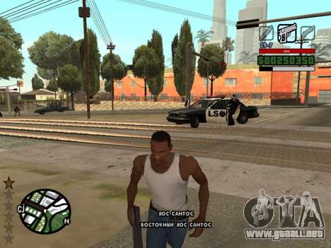 Cómodo C-HUD para GTA San Andreas segunda pantalla