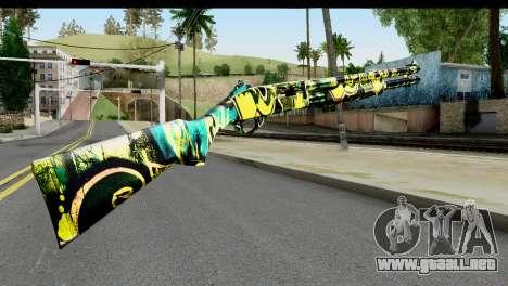 Grafiti Shotgun para GTA San Andreas segunda pantalla