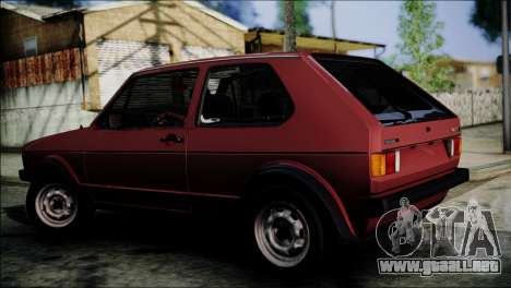 Volkswagen Golf Mk1 GTD para GTA San Andreas left