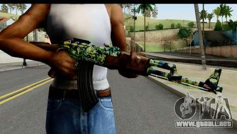 Grafiti AK47 para GTA San Andreas tercera pantalla