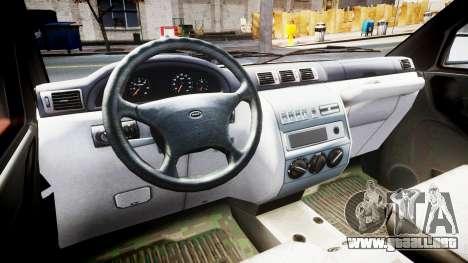 UAZ 23602-050 tienda para GTA 4 vista hacia atrás