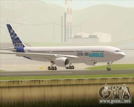 Airbus A330-200 Airbus S A S Livery para visión interna GTA San Andreas