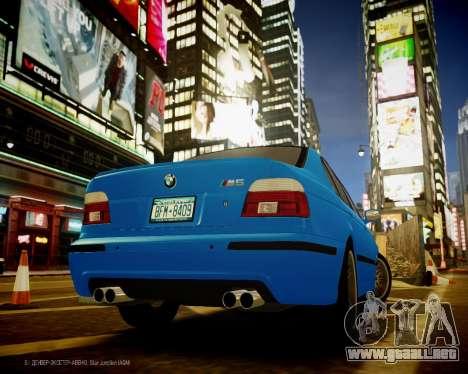 BMW M5 E39 para GTA 4 Vista posterior izquierda