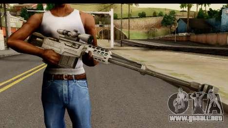 Accuracy International AS50 .50 BMG para GTA San Andreas tercera pantalla