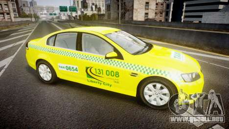 Holden Commodore Omega Series II Taxi v3.0 para GTA 4 left