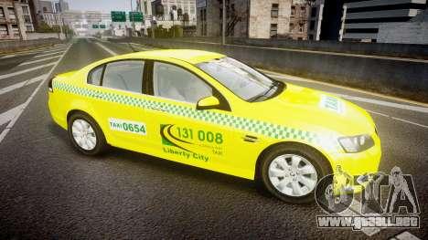 Holden Commodore Omega Series II Taxi v3.0 para GTA 4 left