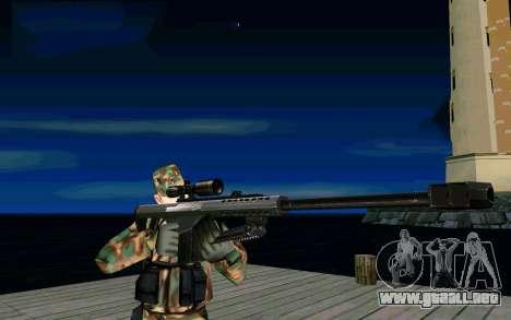 Barret M107 para GTA San Andreas segunda pantalla