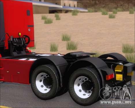 Iveco Stralis HiWay 6x4 para visión interna GTA San Andreas