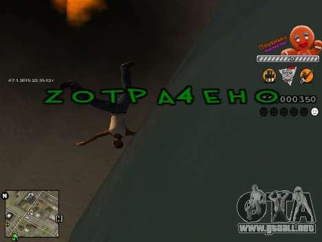 C-HUD Cookie para GTA San Andreas sucesivamente de pantalla