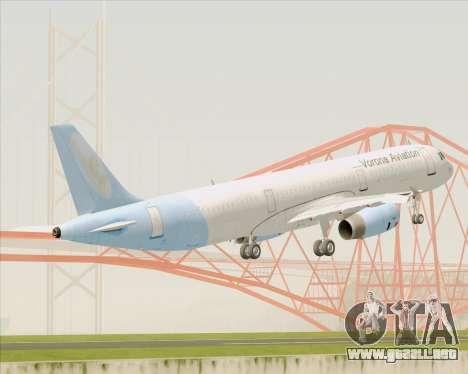 Airbus A321-200 Vorona Aviation para GTA San Andreas vista hacia atrás