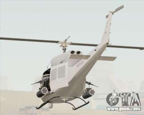 Bell UH-1N Huey USMC para vista lateral GTA San Andreas