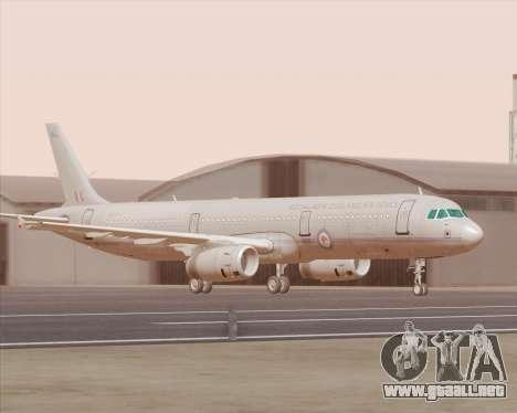 Airbus A321-200 Royal New Zealand Air Force para GTA San Andreas left