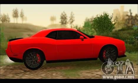 Dodge Challenger SRT HELLCAT 2015 para la visión correcta GTA San Andreas