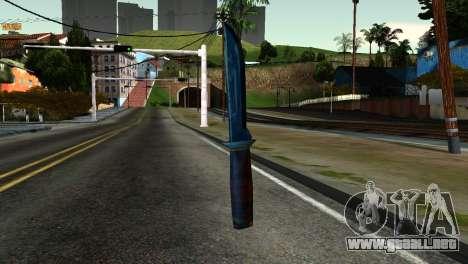 Knife from Kuma War para GTA San Andreas segunda pantalla