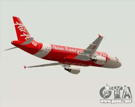 Airbus A320-200 Indonesia AirAsia para la visión correcta GTA San Andreas