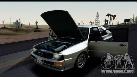 Audi Sport Quattro B2 (Typ 85Q) 1983 [HQLM] para la visión correcta GTA San Andreas