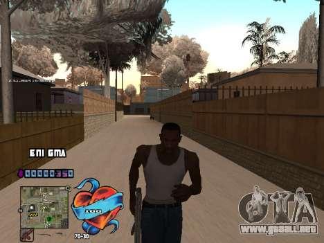 C-HUD Corazón para GTA San Andreas quinta pantalla