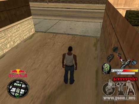 С-HUD RedBull para GTA San Andreas segunda pantalla