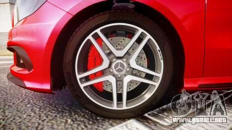 Mersedes-Benz A45 AMG para GTA 4 vista hacia atrás