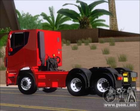 Iveco Stralis HiWay 6x4 para GTA San Andreas vista posterior izquierda