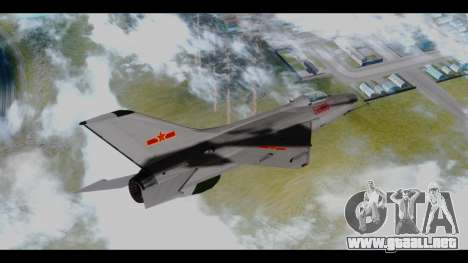 MIG-21 China Air Force para GTA San Andreas left