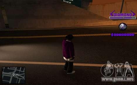 C-HUD Diamond Gangster para GTA San Andreas sucesivamente de pantalla
