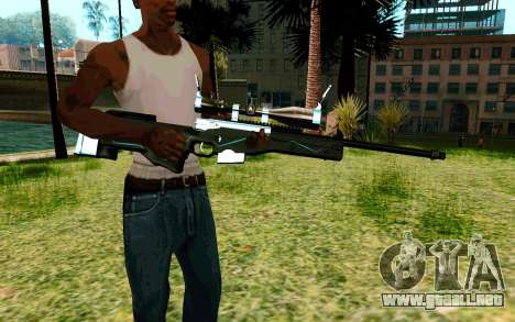Blue Line Sniper para GTA San Andreas segunda pantalla