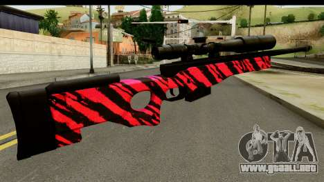 Red Tiger Sniper Rifle para GTA San Andreas segunda pantalla