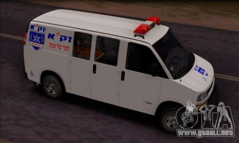 Chevrolet Exspress Ambulance para GTA San Andreas left