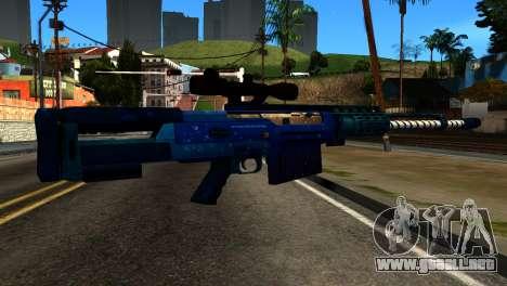 New Year Sniper Rifle para GTA San Andreas segunda pantalla