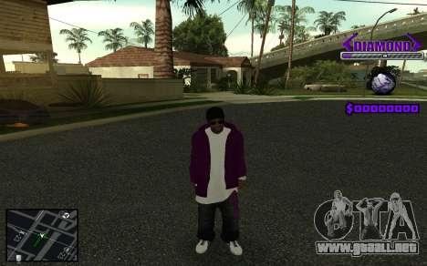 C-HUD Diamond Gangster para GTA San Andreas octavo de pantalla