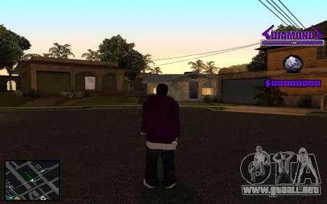 C-HUD Diamond Gangster para GTA San Andreas sexta pantalla