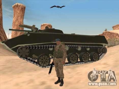 Granadero de las tropas aerotransportadas de la para GTA San Andreas tercera pantalla