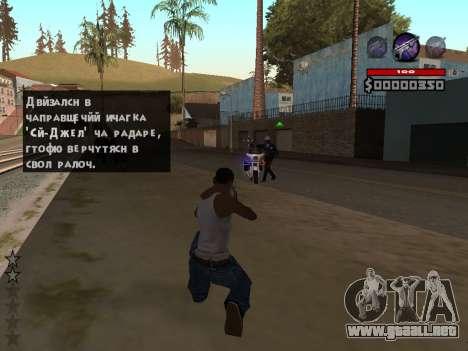 C-HUD by Granto para GTA San Andreas segunda pantalla