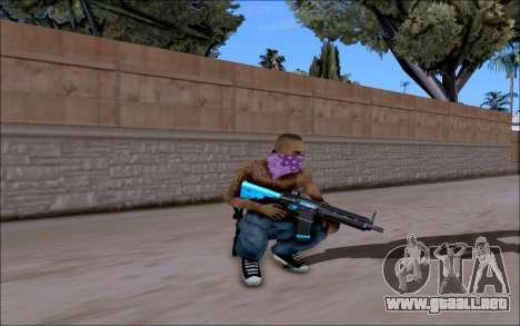 Blueline Gun Pack para GTA San Andreas sucesivamente de pantalla