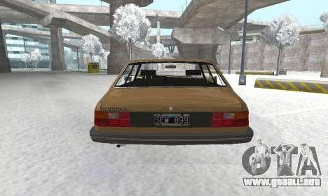 Renault 18 para GTA San Andreas vista hacia atrás