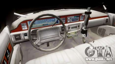 Chevrolet Caprice 1990 LCPD [ELS] Patrol para GTA 4 vista hacia atrás