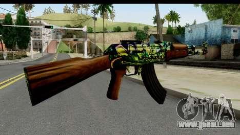 Grafiti AK47 para GTA San Andreas segunda pantalla