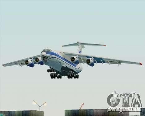 IL-76TD Gazprom Avia para GTA San Andreas vista hacia atrás