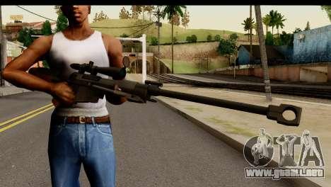 Sinons PGM Ultima Ratio Hecate II para GTA San Andreas tercera pantalla