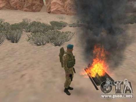 Granadero de las tropas aerotransportadas de la para GTA San Andreas octavo de pantalla