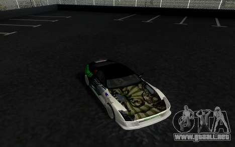 Toyota Supra VCDT para GTA San Andreas vista posterior izquierda