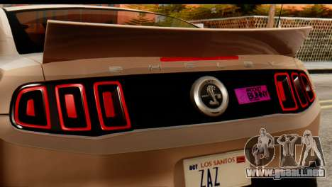Ford Shelby GT500 RocketBunny para GTA San Andreas vista posterior izquierda