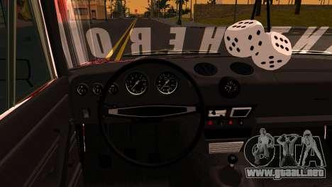 VAZ 2106 BQ para GTA San Andreas vista hacia atrás